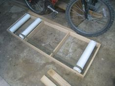 DIY Bike Rollers : 8 Steps (with Pictures) - Instructables Cycling Rollers, Bicycle Rollers, Indoor Bike Stand, Bicycle Stand, Cool Bicycles, Cool Bikes, Diy Stationary Bike, Indoor Trainer, Bike Room