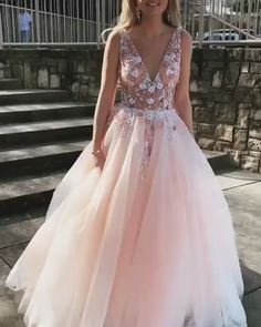 Buy Sexy Backless Prom Dress Pearl Pink Tulle V-neck Appliques Graduation Gown Go your own way on the prom of your life and pick Burgundy Two Pieces Long Prom Dress Chiffon Sexy Evening Gowns that speaks to you and your unique personality. Pink Prom Dresses, Backless Prom Dresses, Tulle Prom Dress, Grad Dresses, Lace Evening Dresses, Dresses For Teens, Dance Dresses, Pretty Dresses, Homecoming Dresses