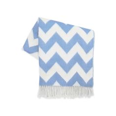 Jonathan Adler French Blue Zig Zag Alpaca Throw (£295) ❤ liked on Polyvore featuring home, bed & bath, bedding, blankets, chevron throw, chevron bedding, alpaca throw, chevron pattern blanket and zig zag bedding