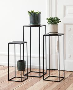 n stores from Friday 22 June // Place one or more plant stands along the wall or in a corner of your home. Steel Furniture, Industrial Furniture, Home Furniture, Furniture Design, Hallway Decorating, Interior Decorating, Interior Design, Hallway Art, Flur Design