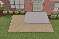 How to install larger paver patio over smaller existing concrete patio #4