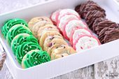 Four Christmas Cookies From One Basic Dough - . - Four Christmas Cookies From One Basic Dough – – - Basic Cookies, Super Cookies, Yummy Cookies, Holiday Baking, Christmas Baking, Christmas Cookies, Biscuit Dough Recipes, Cookie Recipes, Basic Dough Recipe