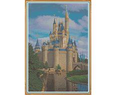 Cinderella's Castle - Counted Cross Stitch Pattern (X-Stitch PDF) by HornswoggleStore on Etsy https://www.etsy.com/listing/169899740/cinderellas-castle-counted-cross-stitch