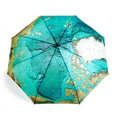 Automatic Blue Map Umbrella