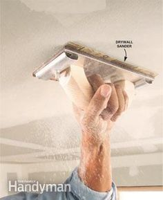 Drywall Sanding Tips and Techniques from Family Handyman. Home Improvement Loans, Home Improvement Projects, Home Projects, Sanding Tips, Drywall Finishing, Drywall Installation, Drywall Repair, Drywall Tape, Home Fix