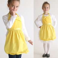 free sewing pattern for Belle princess dress up apron