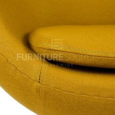 Arne Jacobsen Style Egg Chair - Cashmere Olive Fabric , Chair - FSWorldwide, FSWorldwide  - 8 https://www.emfurn.com