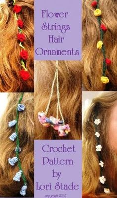 Flower Strings Hair Accessories Crochet Pattern, Crafts :: Craft Supplies & Tools :: Needlecrafts & Yarn :: Bullszi.com