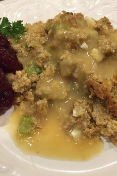 """Grandma's Corn Bread Dressing 