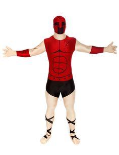 Morphsuit Spartaner Ganzkörperanzug beige-rot-schwarz, aus unserer Kategorie Morphsuits. Werden Sie zum tapferen Spartaner-Krieger, der zusammen mit seinen Mannen das Land gegen die persischen Invasoren verteidigt. In diesem sensationellen Spartaner Morphsuit sollte Ihnen das nicht schwer fallen. Ein wirklich außergewöhnliches Kostüm, das mit Sicherheit für Aufsehen sorgen wird!