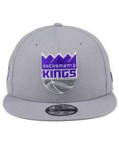 b856c852707 New Era Sacramento Kings Gray Pop 9FIFTY Snapback Cap - Gray Adjustable