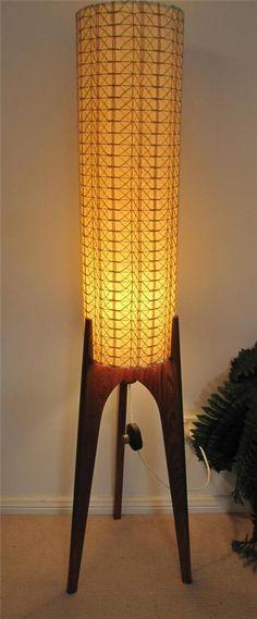 Vintage & Very Retro Rocket Floor Lamp Shade