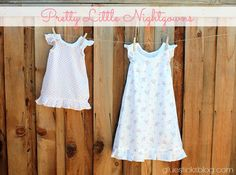 Pretty Little Nightgowns: a darling alternative to all of the character pajamas.