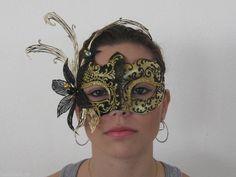 BLACK & GOLD VENETIAN  MASQUERADE LASER CUT METAL MASK Laser Cut Metal, Laser Cutting, Mardi Gra, Venetian Masquerade Masks, Black Gold, Halloween Face Makeup, Beauty, Venetian Masks, Beauty Illustration