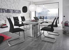 Stuhl Contra •• CSGE41SX Streif/Griff, Sitz FG+Rü Netz schwarz, Flachrohr Edelstahl gebü. #Esszimmer #Möbel #Tisch #Stuhl #Home http://www.muellerland.de/sortiment/produkt/stuhl-63/