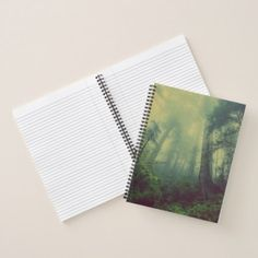 #Forest Mist Collage Rule Notepad Notebook - #office #gifts #giftideas #business