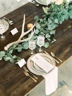 Industrial-chic table decor: http://www.stylemepretty.com/colorado-weddings/denver/2015/08/18/industrial-chic-denver-wedding-inspiration/ | Photography: Lisa O'Dwyer - http://www.lisaodwyer.com/: