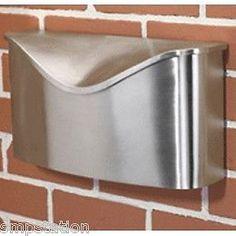 Umbra POSTINO Brushed Stainless Steel Wall Mount Modern Mailbox w Lid Brand New #UMBRA