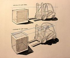 Do something a day project - Day (18/28) (nihalislam) Tags: illustration design sketch drawing sketching perspective shade form draw product forklift industrialdesign productdesign