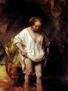 Rembrandt, Bather, 1654