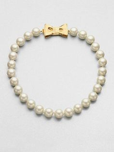 Can't get cuter than Kate Spade pearls & a bow!