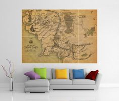 Middle Earth Lord of The Rings LOTR Giant Wall Art Picture Print Poster G102 | eBay