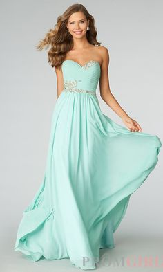 Long Strapless Gowns for Prom, JVN by Jovani Dresses- PromGirl