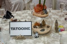 Take inspiration from iconic Star Wars locations when naming your reception tables.
