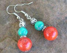 amethyst earrings vintage style earrings gemstone earrings