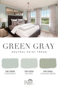 Is your bedroom your favorite room in the house? Indulge in a trendy and calming neutral color palette from Sherwin-Williams, perfect for your next bedroom refresh. Click for more inspiration. | Pulte Homes