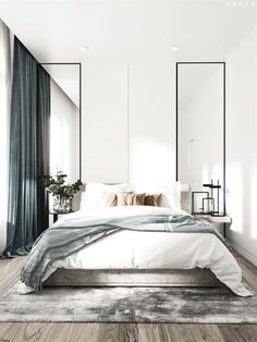 Scandinavian bedroom with a luxurious touch of velvet fabrics.Modern Scandinavian bedroom with a luxurious touch of velvet fabrics. Best Minimalist Bedroom Design You Must See Home Decor Bedroom, Bedroom Inspirations, Minimalist Bedroom Design, Home Bedroom, Bedroom Interior, Modern Bedroom Design, Luxurious Bedrooms, Modern Scandinavian Bedroom, Small Bedroom