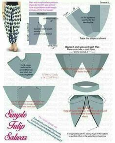 Simple sarong Sewing Hacks, Sewing Tutorials, Sewing Projects, Dress Sewing Patterns, Clothing Patterns, Saree Tassels Designs, Tulip Pants, Sewing Collars, Salwar Pattern