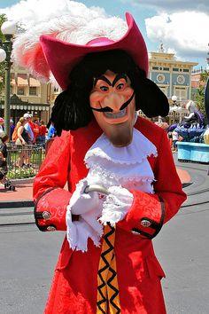 Captain Hook in the Magic Kingdom at Disney World Characters, Walt Disney World, Disney Parks, Disneyland California, Tokyo Disneyland, Disney Costumes, Disney Outfits, Disney Love, Disney Magic