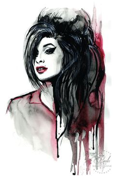 """Amy Winehouse"" by Therése Rosier - Limited Edition, Fine Art Print:"