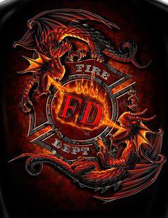 Fireman Shirt Firefighter T-Shirt Fear No Evil FF2073