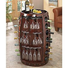 Table, Sommeliers Barrel Wine from Seventh Avenue ® Wine Barrel Chairs, Barrel Bar, Wine Barrel Furniture, Wine Barrels, Wine And Liquor, Wine And Beer, Barrel Projects, Cellar Design, Wine Decor
