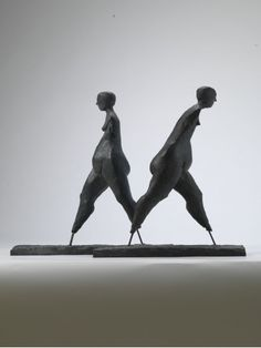 """Walking"", by Anthony Abrahams. Bronze."