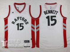camisetas nba 2015-2016 Anthony Bennett #15 Toronto Raptors blanco Camisetas Nba 2015-2016 Anthony Bennett #15 Toronto Raptors Blanco  €21.9
