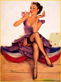 I want to be this pin-up girl for Halloween.  How do I make this happen.  OBSESSED with that dress.