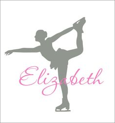 Personalized Ice Skater Decal Wall Decal by CustomVinylbyBridge