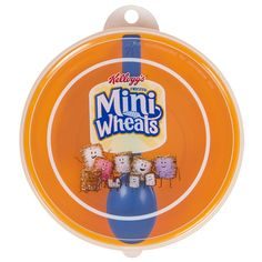 Get your fiber to keep you focused wherever you go with this Kellogg's® Mini-Wheats@ Tote-A-Bowl.