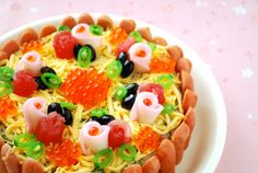 レシピあり!ひな祭り☆タルト風ケーキのちらし寿司|ザッキー☆のキャラ弁LIFE