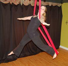 Aerial Sling (Aerial Hammock) Moves!  Fall Forward Pose