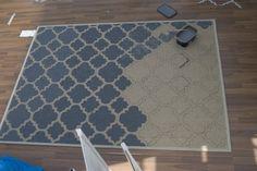 DIY: Paint an old rug