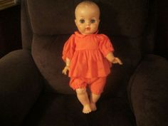 "Charming Uneeda wet and drink baby doll 1950's -1960's 18"" plastic and vinyl"