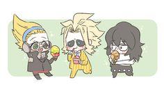 Present Mic, Dibujos Anime Chibi, Shouta Aizawa, Teacher Memes, Hero 3, Cute Doodles, Cute Chibi, Anime Characters, Fictional Characters