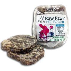 Raw Paws Beef Green Tripe, (Patties)
