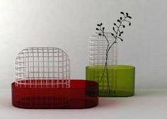 Bovisa, vases pour Industreal, 2008, verre et métal, collaboration Guillaume Delvigne © Ionna Vautrin