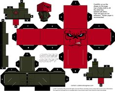 Red Skull cubeecraft by JagaMen.deviantart.com on @DeviantArt