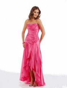 A-line Strapless Floor-length Elastic Woven Satin Bridesmaid Dresses / Evening Dresses / Prom Dresses